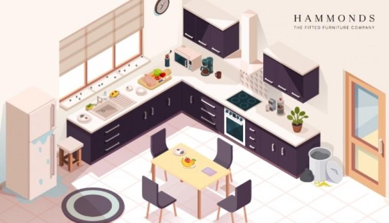 Reto viral: encontrar los 7 peligros en la imagen de la cocina