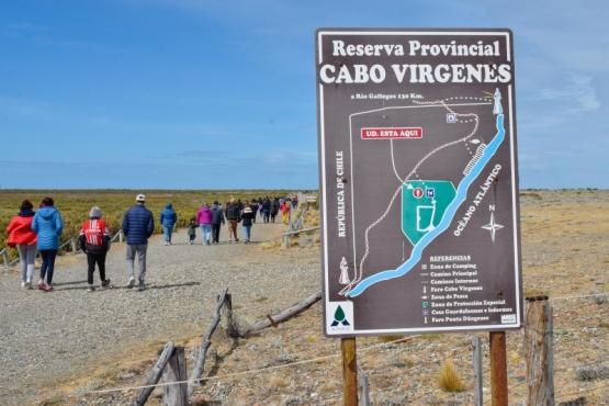 Las visitas a Cabo Vírgenes pasaron de 300 a 3 mil por semana