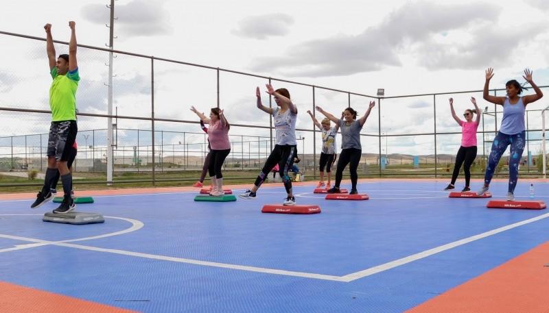 Viernes de entrenamiento Tabata y Funcional para niños en el Parque Pirincho Roquel de Río Gallegos