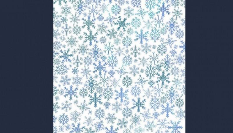 Hallá el diamante entre los copos de nieve