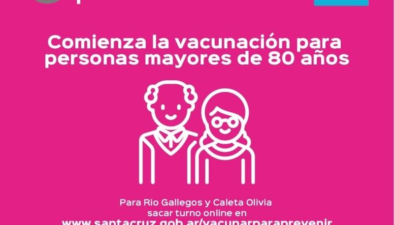 Comienza la vacunación para personas mayores de 80 años