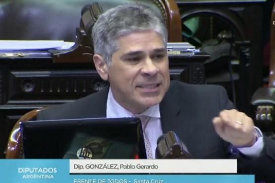 El legislador santacruceño que más habló en el reciento fue Pablo González (FDT).