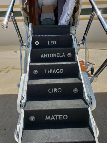 El avión de Messi.