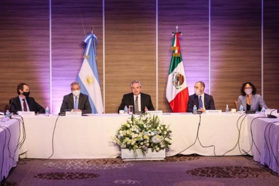 El Presidente ya está reunido con empresarios mexicanos