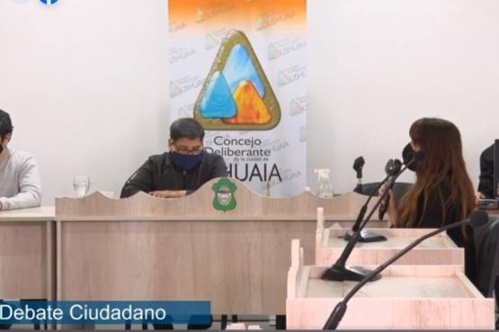 Debate en el Concejo Deliberante de Ushuaia sobre un proyecto de ordenanza presentado por un grupo de vecinos en la Comisión de Información y Debate Ciudadano en 2020. (Foto Sur 54)