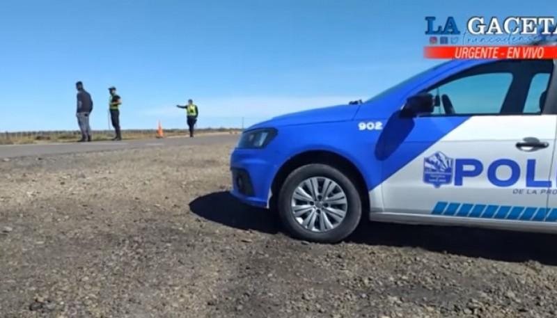 La Policía realiza controles en las Rutas 12 y 43. (Foto: La Gaceta Truncadense)