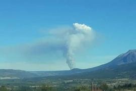 Incendio de gran magnitud en campos de la estancia Poncho Moro