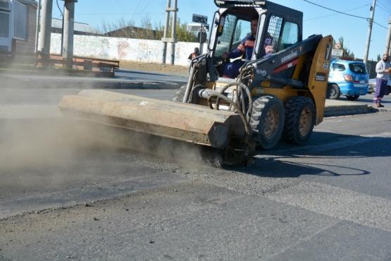 Municipio de Río Gallegos continúa con tareas previas al asfaltado de la San Martín