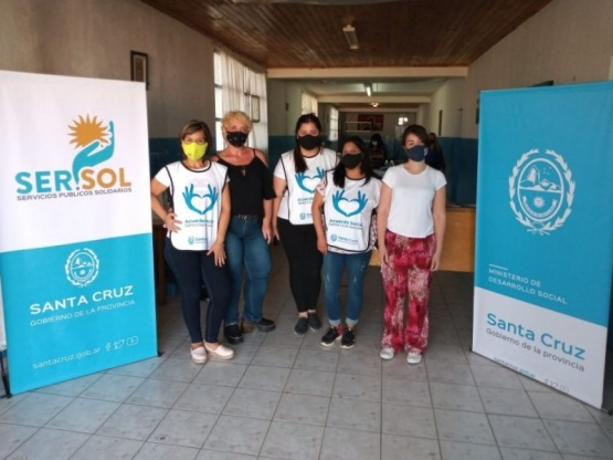 El CIC Móvil estuvo en el Barrio Evita de Río Gallegos