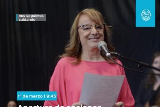 Alicia Kirchner inaugurará un nuevo periodo de sesiones legislativas