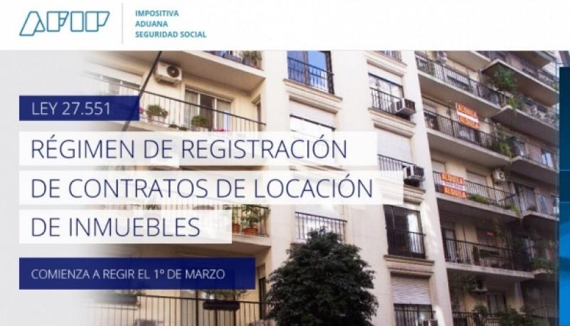 Registro de Contratos de Alquileres en AFIP.