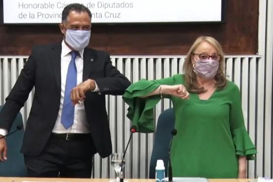 Eugenio Quiroga y Alicia Kirchner.