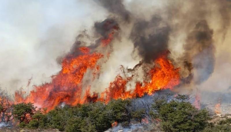 Fuego en Corcovado.