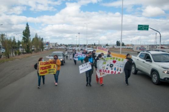 Marcha en Río Gallegos.