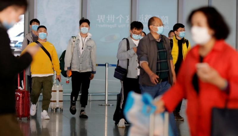 Turistas en China.