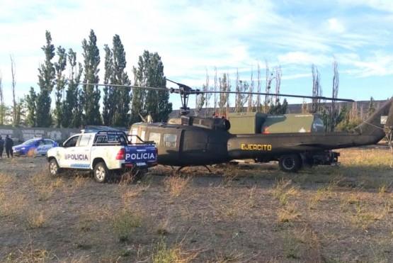 Personal del GERS y Gendarmería salieron en helicóptero.