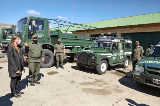 La ministra Frederic visitó las instalaciones de Gendarmería Nacional.