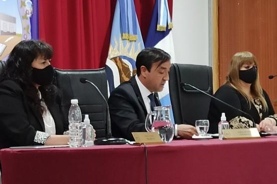 Pablo Grasso en el Concejo Deliberante.