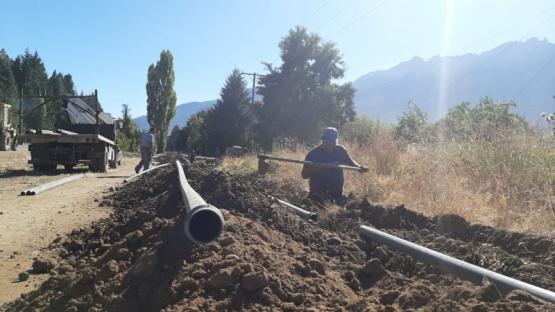 Realizan mejoras en el servicio hídrico de Lago Puelo
