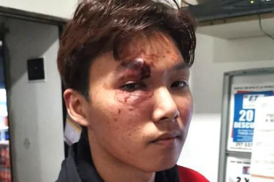 Los propietarios del supermercado sufrieron heridas en la cabeza.