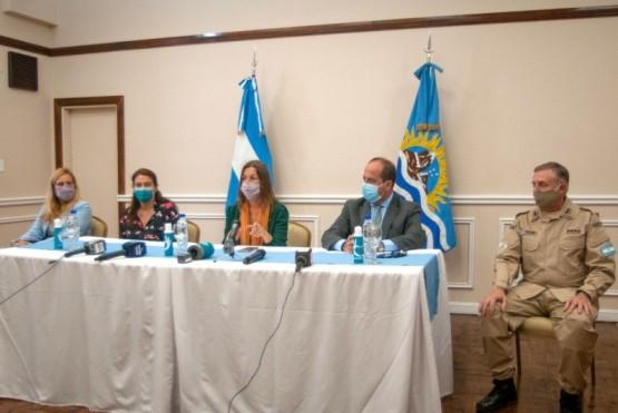 La Ministra de Seguridad brindó una conferencia de prensa en Casa de Gobierno.