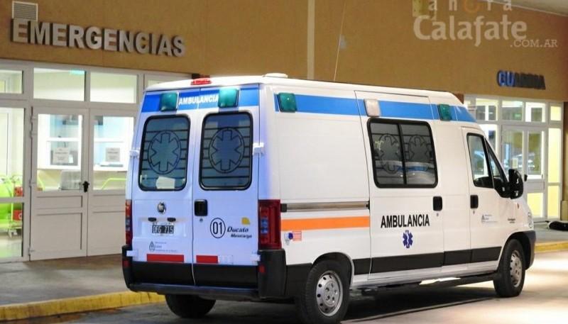 Ambulancia en el Hospital SAMIC (Foto Ahora Calafate).