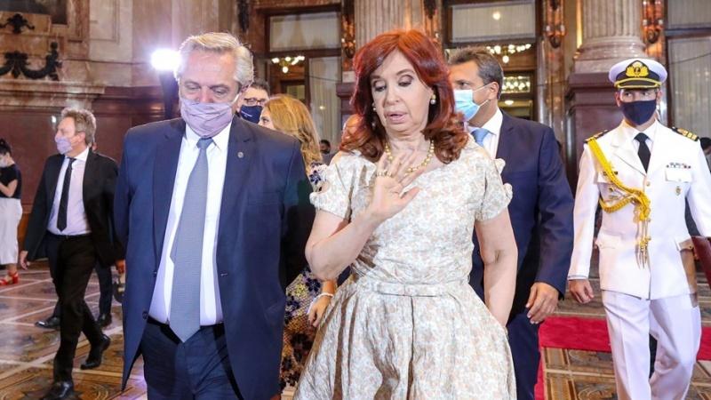 Alberto Fernández y Cristina Fernández.