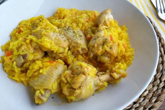 Cómo hacer alitas de pollo con arroz