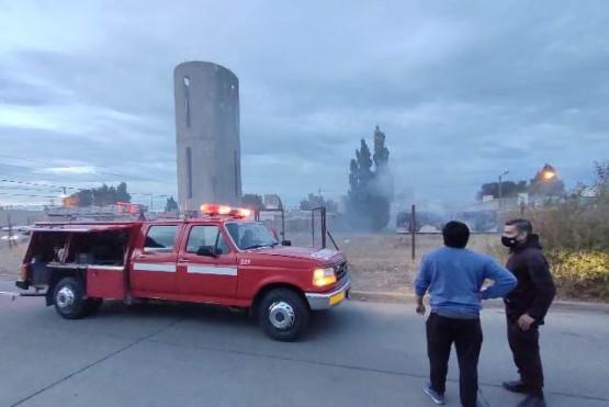 Incendio en ex predio de Servicios Públicos