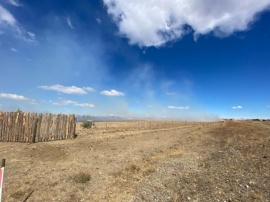 Otra quema de pastizales en Río Gallegos