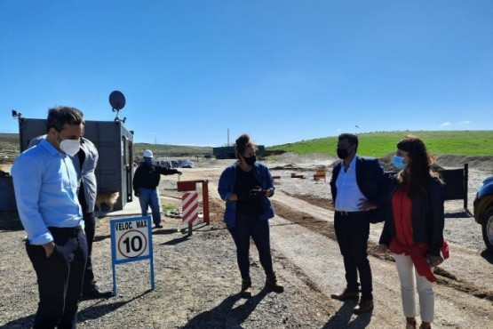 Gobierno visitó una planta de tratamiento de residuos en Puerto Deseado