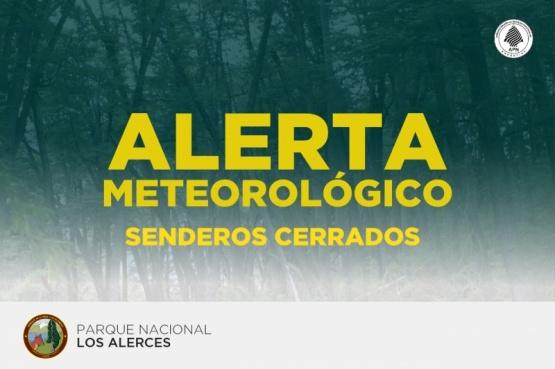 Parque Los Alerces | Senderos cerrados por ráfagas de viento
