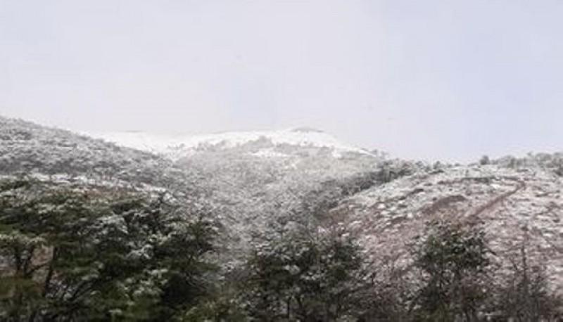 Nieve y frío en Río Turbio.