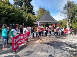 Realizaron movilización e intervención por las víctimas de femicidios