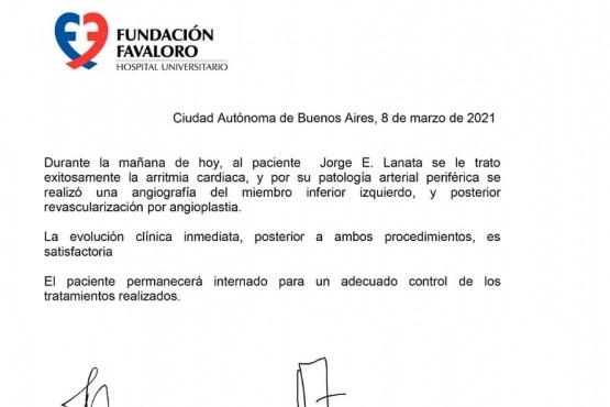 El parte de la Fundación.