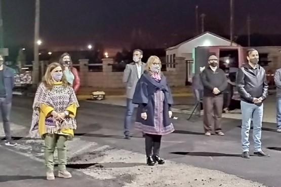 Alicia acompañó a Grasso en la inauguración del Monumento a la Mujer.
