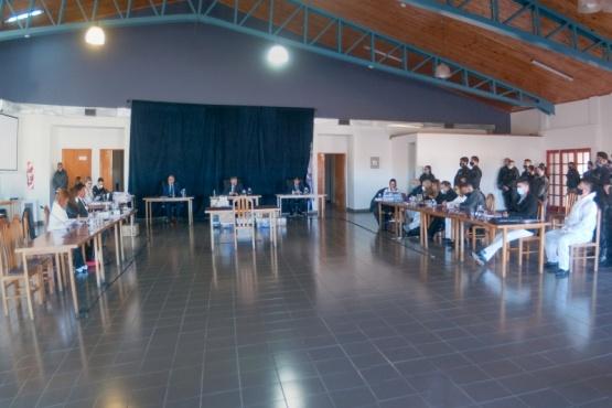 El juicio inició ayer en la Escuela de Policía. (Foto: L.F.)