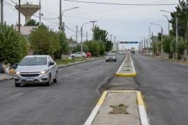 Habilitaron un tramo de la Avenida San Martín tras los trabajos de pavimentación