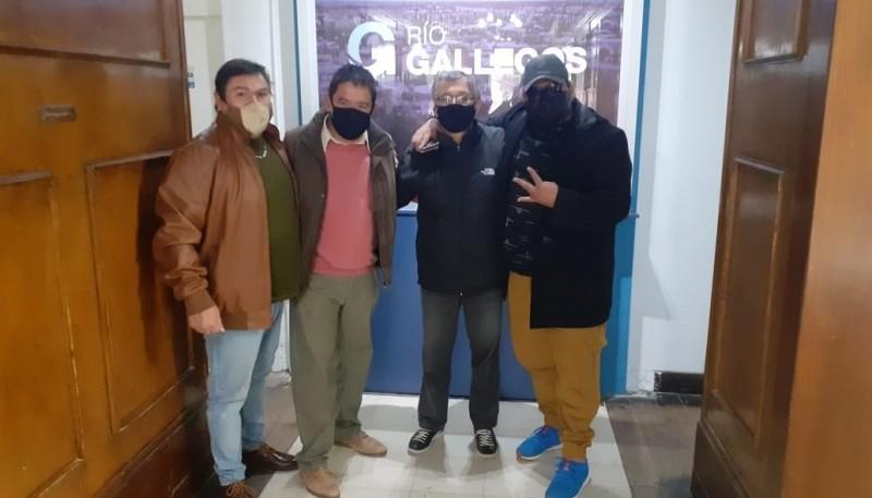 Integrantes de la Mesa Coordinadora de Organizaciones Sociales de Río Gallegos
