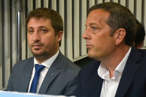 Leandro Zuliani junto a Ignacio Perincioli (foto archivo).