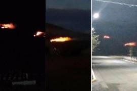 Incendio en cercanías a Rospentek