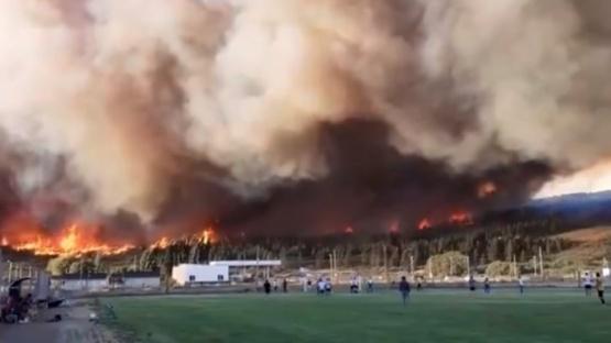 Tristes imágenes del incendio.