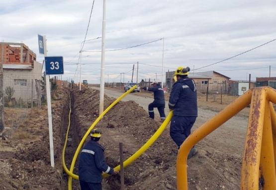 Avanza el tendido de red de gas en el 22 de septiembre