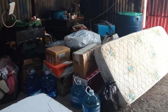 Bomberos de Las Heras realizan colecta por los incendios en Chubut.