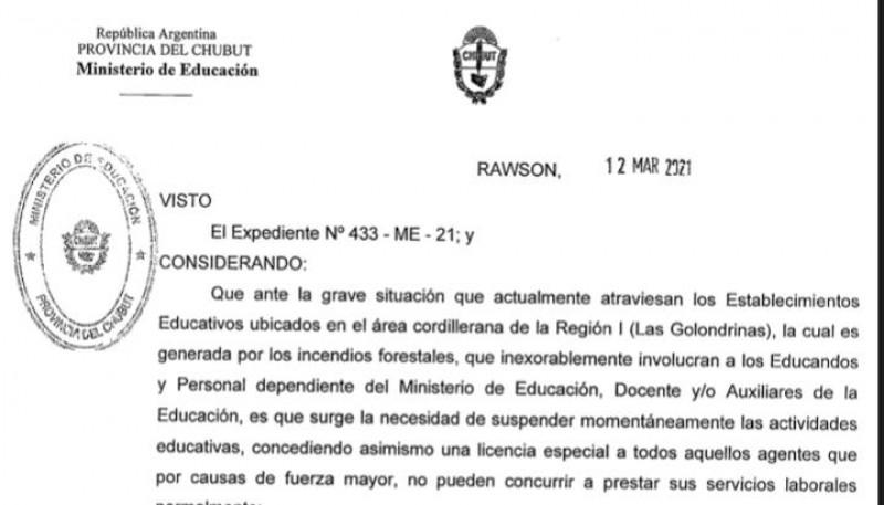 Los docentes afectados por el siniestro en Cordillera tendrán una licencia especial