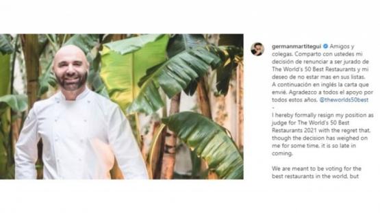 Germán Martitegui renunció al jurado de