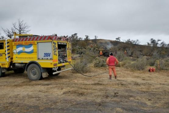 Se quemaron cerca de 200 hectáreas por el incendio en cercanías a Rospentek