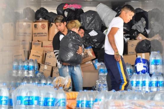Trelew solidario: más donaciones rumbo a la cordillera