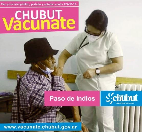 Avanza la vacunación en localidades de Chubut