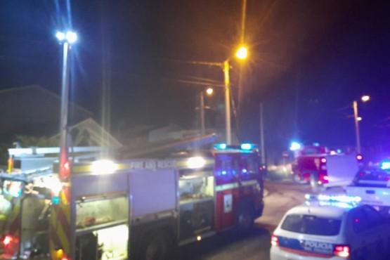 Bomberos de Rada Tilly movilizados por incendio de una vivienda